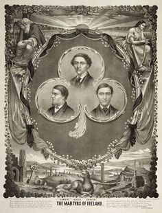 The Manchester Martyrs – William Philip Allen, Michael Larkin, and Michael O'Brien – were members of the Irish Republican Brotherhood, an organisation dedicated to ending British rule in Ireland. They were executed for the killing of a police officer in Manchester, England, in 1867