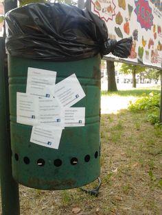 Grumo di #Cestinamenti.  Via della Costituzione, Ferrara (IT).