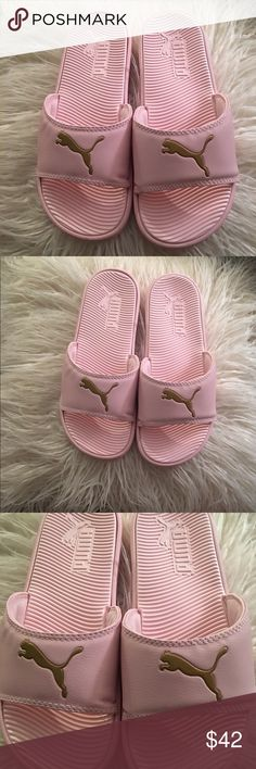 New Puma Slip On Sandals Beautiful new pink slip on sandals, super soft and comfortable but yet so stylish, perfect to lounge around the house, beach, pool or just any day!! Puma Shoes Sandals