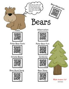 Great for centers and early finishers! Need a way to use your iPads/tablets or students bringing their own devices? Students love scanning/learning with our QR codes! Bears, Bears using QR Codes Corduroy Bear, Polar Bear Facts, Fun Songs, Science Classroom, Digital Technology, Literacy, Fun Facts, Kindergarten, Activities