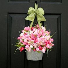 love this for a front door for spring instead of a wreath! unique and beautiful! ENTER TO WIN: http://www.inspiredbycharm.com/2012/02/door-decor-giveaway-from-ever-blooming.html