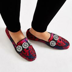 c358092366b Mens Womens Red ring wide fit backless loafer