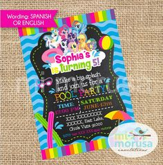 My Little Pony Pool Party Chalkboard printable by Mimorusa