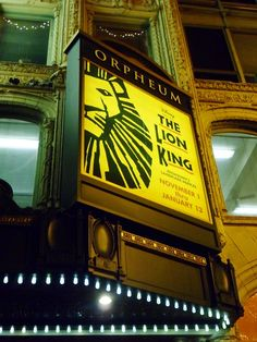 The Lion King Musical - the costumes were amazing!!! Fox Atlanta, April!! Yay