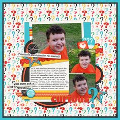 For the Aug 6th Shadowbox Challenge at Sweet Shoppe Designs, to use repetition  Kit: Too Many Questions, Melissa Bennett, Amber Shaw, and Jady Day Studio, SSD Template: HP 1, Cindy Schneider Font: The Sophia Typewriter