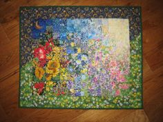 Art Quilt Sunshine Garden Wall Hanging by TahoeQuilts on Etsy, $128.00