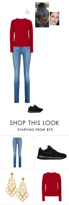"""""""Sem título #6757"""" by gracebeckett ❤ liked on Polyvore featuring 7 For All Mankind, NIKE, Tory Burch and Carolina Herrera"""