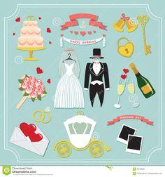 Remarkable Vintage Set Wedding Invitation Cute Design Elements Kit Template Iconsin Vector Flower Love
