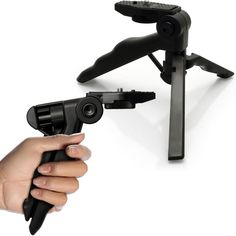 Universal Mini Hand Pistol Grip Tabletop Travel Tripod Stabilizer Stand Holder