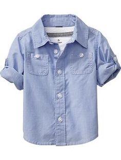 abbf627fe3 Poplin Pinstriped Shirts for Baby   Old Navy Camisa Infantil, Moda  Infantil, Conjuntos De
