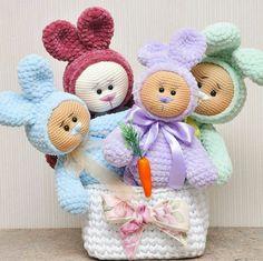 Crochet Animal Amigurumi, Crochet Animal Patterns, Amigurumi Toys, Stuffed Animal Patterns, Crochet Animals, Crochet Dolls, Easter Crochet, Cute Crochet, Yarn Projects