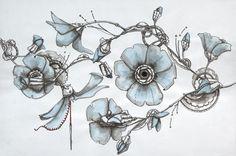 Blue Hibiscus (print)