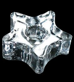 Clear Star Candle Holder - Click Image to Close