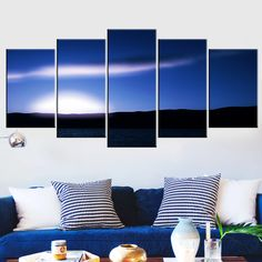 5 Piece Set Natural Landscape Canvas Wall Painting  sky  Landscape Wall Art Canvas Painting natural nature landscape sky Canvases home decor ideas wall products art panels designs art beautiful living rooms art sets gift decoration ideas awesome cool unique cheap inspirational backgrounds for sale buy online shopping shops website links AuhaShop.com