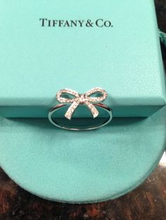 ✔ Tiffany Company Platinum and Diamond Bow Ring | eBay