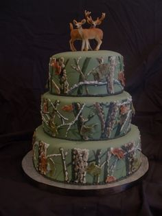 Top 20 Most Viewed Cakes: Hunting Groom's Cake - Cakes By Erin #Christmas #thanksgiving #Holiday #quote