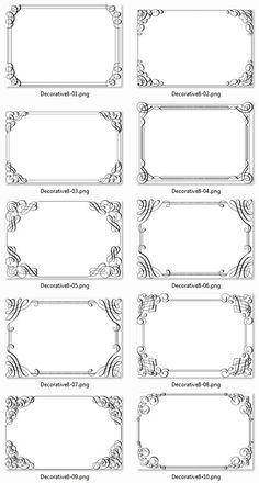 Frame Border Design, Page Borders Design, Molduras Vintage, Quilt Labels, Borders For Paper, Math Notebooks, Free Photoshop, Printable Labels, Vintage Labels