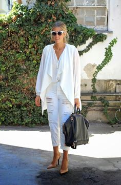 All white outfit www.DevonRachel.com