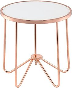 New Acme Alivia End Table, Frosted Glass & Rose Gold online shopping - Prettytoppro Rose Gold Side Table, White End Tables, Rose Gold Accessories, Contemporary Living Room Furniture, Acme Furniture, Gold Furniture, Furniture Decor, Rose Gold Decor, Exposed Wood