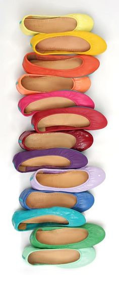 Craving color? Tieks Ballet Flats are the cure!  (Maybe I'll be able to afford a pair someday...)