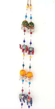 Indian home Decor Handicraft - Elephant theme Wall Hanging - Diwali home decor door Hanging