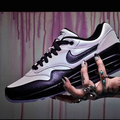 """8fd1e7a390debc Nails by mani-master Asa Bree —inspired by the Air Max 1 Pearl iD  """"Nails  can be as simple as reapplying shapes."""" Asa drew more attention to her  favorite ..."""