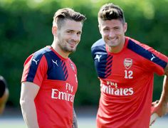 Mathieu Debuchy and Olivier Giroud #AFC
