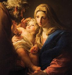 The Athenaeum - The Holy Family (Pompeo Batoni - ) Blessed Mother Mary, Blessed Virgin Mary, Religious Photos, Religious Art, Nativity Painting, National Gallery, Jesus Christus, Christian Images, Mama Mary