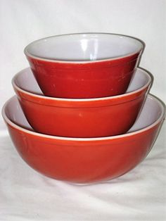 Vintage Solid Harvest Wheat or Old Orchard 1 12 2 12  4 Quart Glass Mixing Nesting Batter Bowls * Amazon most trusted e-retailer  #MixingBowls