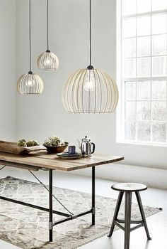 Chino Wood Cage Pendant Light - Pendant Lights - Lampsy