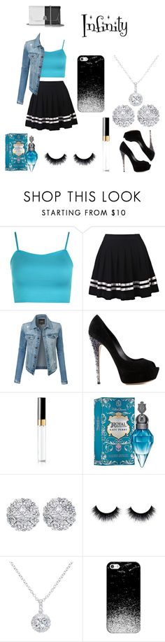 """""""Infinity"""" by janaeyoung ❤ liked on Polyvore featuring WearAll, LE3NO, Casadei, Chanel, Allurez, EWA, Casetify, Akris and infinityphonecase"""
