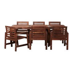 ÄPPLARÖ Table and 6 chairs IKEA You can extend the table in this dining set to make room for more people. $399