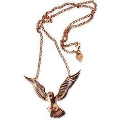 Hjälte Jewellery - Owl Necklace Rose Gold