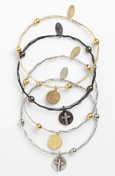 Seasonal Whispers Cross Charm Wavy Bangle available at #Nordstrom