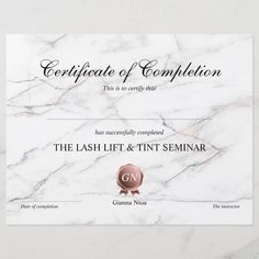 Certificate of completion award course completion zazzle