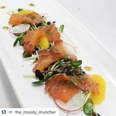 #Repost @the_moody_muncher with @repostapp.  This is the cured salmon atop micro greens a cream cheese honey sauce mustard dill vinaigrette radishes and orange supremes #salad #salmon #curedsalmon  #sundaybrunch #brunch #fancy #microgreens #dc #maryland #foodpic #foodporn  #instafood  @chazidek by chazidek