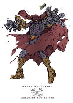 Robot Dectetive (of Masked Rider): K - Armament Resolution Character Design Inspiration, Character Design, Japanese Superheroes, Character Art, Character Inspiration, Mecha Anime, Kamen Rider, Creature Design, Character Design References