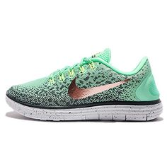 promo code cf3e5 97657 NIKE Womens Wmns Free RN Distance Shield Green GlowMetallic Red 75 US   Be  sure to check out this awesome product. (This is an affiliate link)