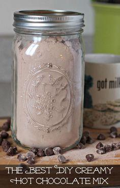The best DYI creamy hot coca mix