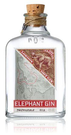 Elephant Gin by Simon Frouws, via Behance. El empaque es vital, para animar a los invitados al Club de la Felicidad.