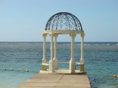 Another oceanfront gazebo at Sandals Royal Caribbean