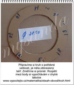 """Vytvořte si kruh potřebné velikosti. Změřte si průměr a zde si vypočítejte obvod kruhu. Do tabulky zadejte hodnotu průměru, klikněte na """"vypočítej"""" a ihned budete znát obvod svého kruhu. Obvod si rozpočítejte, v tomto případě osmicípé hvězdy na 8 dílů, po obvodu si naměřte dílky a označte čísly dle obrázků Nebude-li něčemu rozumět, napište dotaz do komentáře, je možné, že by chtělo znát odpověď více motalinek. Takto bude veškerá diskuze pěkně přehledná a vše na jedné stránce Newspaper Crafts, Quilling, Christmas Crafts, Recycling, Diy Crafts, Knitting, Decor, Simple Paper Crafts, Wreaths"""