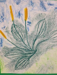 Kuvis ja askartelu - www.opeope.fi. Frottage ja lehdet lyömätön yhdistelmä :) . Tällä kertaa tutkittiin tokaluokkalaisten kanssa piharatamoa.