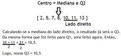 Medidas de Ordenamento e Forma - Separatrizes com dados não agrupados