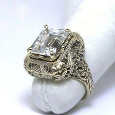 Luxurious 14KT Edwardian Style Fabulite Ring by JMPierceJewelry