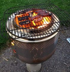 Washing Machine Drum Fire Pit, Awesome Washing Machine Drum Ideas, http://hative.com/awesome-washing-machine-drum-ideas/,