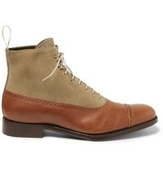 Grenson Foot The Coacher Leather and Suede Boots