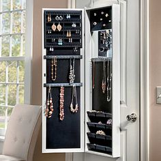 Over The Door Jewelry Armoire...wondering if I could diy this...