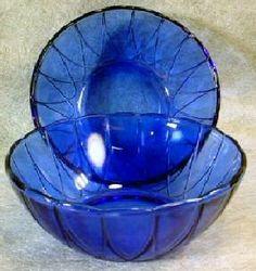 Blue Depression Glass Bowls