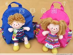 Childrens backpacks and bags. Diy For Kids, Crafts For Kids, Sew Together Bag, Drawstring Bag Tutorials, Tote Bag With Pockets, Japanese Knot Bag, Mermaid Crafts, Doll Carrier, Fabric Gift Bags